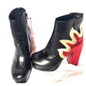 Forever 21 high heel flame boots
